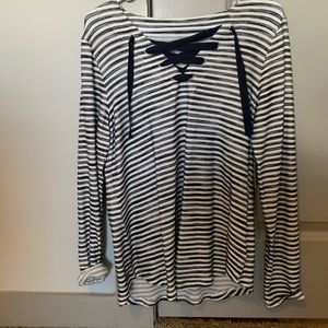 Navy and White Striped Top Size Small